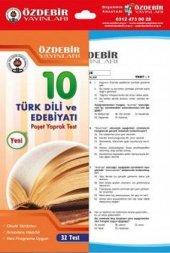 10. Sınıf Türk Dili Ve Edebiyatı Poşet Yaprak Test - Özdebir Yayınları