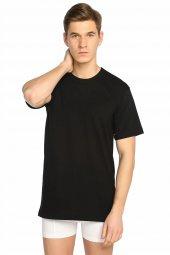 Tutku Sıfır Yaka T Shirt Erkek Atlet Siyah %100 Pamuk Cotton