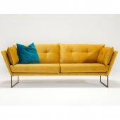 Evdebız Relax Üçlü Kanepe Sarı