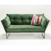 Evdebiz Relax İkili Kanepe Kadife Yeşil...