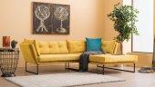 Evdebiz Relax Köşe Koltuk Sağ Sarı