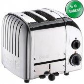 Dualit 27030 Classic 2 Hazneli Ekmek Kızartma Makinesi İnox