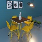 Knsz Masa Sandalye Takımı Huve Cvzsrı 080*080 4...