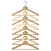 Bumerang Giysi Askısı 8li (Natürel)