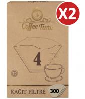 Coffee Time 1x4 Kahve Filtre Kağıdı 100x2...