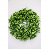 Yapay Bitki Çelengi 30 Cm Yeşil