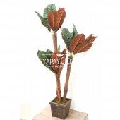 Yapay 3lü Ağaç 135 cm Kahve-Yeşil-2