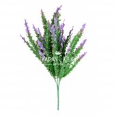 Dekoratif Yapay Tırtıklı Bitki Demeti Yeşil-Mor