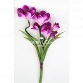 Yapay Çiçekli Küçük Kılıç Bitkisi Lila