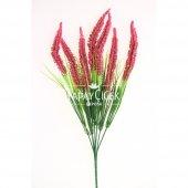Yapay Çiçek (Pastel Kırmızı Cipsolu Arjantin Demeti)