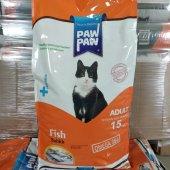 Paw Paw (Pawpaw) Balıklı Kedi Maması-15 kg-2