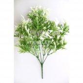 Yapay Küçük Bitki Demeti Marul Model Yeşil-Beyaz