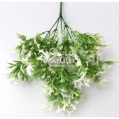 Yapay Küçük Bitki Demeti Marul Model Yeşil-Beyaz-2