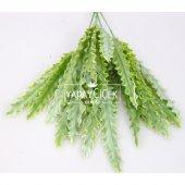 Dekoratif Yapay Tırtıklı Bitki Demeti Yeşil-2