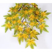 Yapay Çınar Ağacı Dalı 65 cm Yeşil-Sarı-2