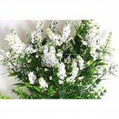 Minik Cipsolu Yapay Bahar Yeşillik 7 Dallı 35cm Beyaz-2