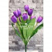 Yapay Çiçek Lale Demeti 9 Dallı Mor