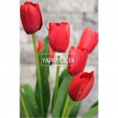 Yapay Çiçek Lale Demeti 9 Dallı Kırmızı-2