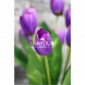 Yapay Çiçek Lale Demeti 9 Dallı Mor-2