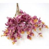 Yapay 16 Dallı Okaliptus Bitkisi 45 cm Pastel Mor-2