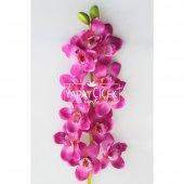 Yapay Lüx Orkide Çiçeği 120 cm Mor