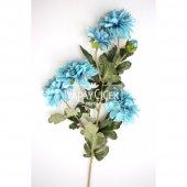 Yapay Çiçek 6lı Uzun Kasımpatı Dalı 85 cm Mavi