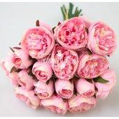Yapay Çiçek 15li Küçük Tomur Şakayık Gül Buketi Açık Pembe-2