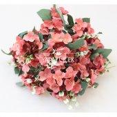 Yapay Çiçek 13 Dal Lux Pastel Ortanca Demeti Narçiçeği-2