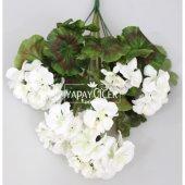 Yapay Çiçek Büyük Sardunya Demet Beyaz-2