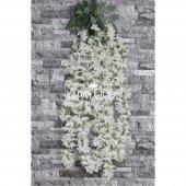 Yapay Çiçek Mine Çiçekli 5li Sarkan Beyaz 85 cm