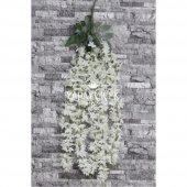 Yapay Çiçek Mine Çiçekli 5li Sarkan Beyaz 85 cm-2