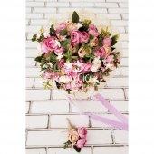 Gelin Çiçeği Ayperi Somon Mor 2li Set-2