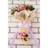 Gelin Çiçeği Ayperi Somon Mor 2li Set-3