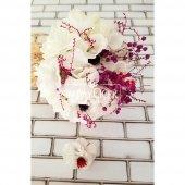 Gelin Buketi Beyaz Ortanca Kuru Çiçek Esintisi 2li Set-2
