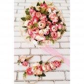 Gelin Çiçeği Ayperi Somon Pembe 3lü Set