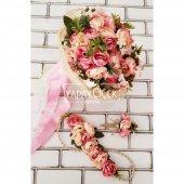 Gelin Çiçeği Ayperi Somon Pembe 3lü Set-2