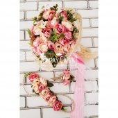 Gelin Çiçeği Ayperi Somon Pembe 3lü Set-3