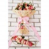 Gelin Çiçeği Ayperi Somon Pembe 3lü Set-4