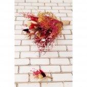Nevada Kuru Çiçek Gelin Buketi 2li Set-2