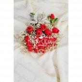 Gelin Çiçeği Cipsolu Kırmızı Islak Lale 2li Set...