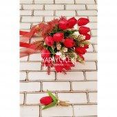 Kırmızı Islak Lale Gelin Çiçeği 2li Set-2
