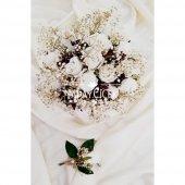 Beyaz Güller Cipso Kuru Çiçek Şöleni Gelin Çiçeği 2li Set-3
