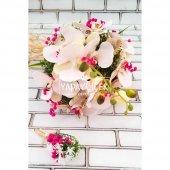 Katerina Orkide Gelin Çiçeği Pudra Pembe 2li...