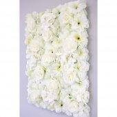 Yapay Lüx Duvar Çiçeği Ortanca ve Gül Zemin Kaplama Duvarı 40x60 cm Krem-2