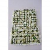 Yapay Lüx Duvar Çiçeği Ortanca ve Gül Zemin Kaplama Duvarı 40x60 cm Krem-3