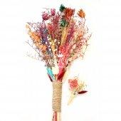 Aspendos Büyük Kuru Çiçek Gelin Buketi 2li Set-2