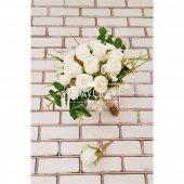 Beyaz Güller Esen Gelin Çiçeği 2li Set