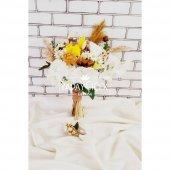 Doğal Çiçekler Papatyalar ve Güller Şöleni 2li Set