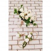 Beyaz Güller Esen Gelin Çiçeği 3lü Set-2