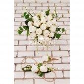 Beyaz Güller Esen Gelin Çiçeği 3lü Set-3